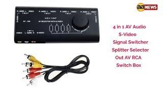 4 in 1 AV Audio S-Video Signal Switcher Splitter Selector Out AV RCA Switch Box विडियो स्विचर