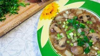Постный гречневый суп с грибами - рецепт