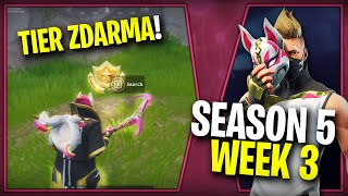 WHERE is the THIRD FREE TIER FOR SEASON 5 (Week 3)-Fortnite Battle Royale CZ/SK | Lego007las