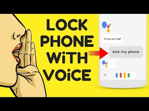 How To Lock Your Phone With Voice😎
