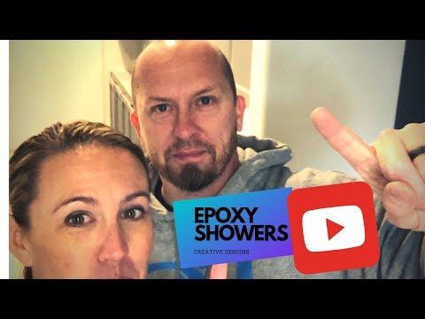 Epoxy shower walls install. Part 1