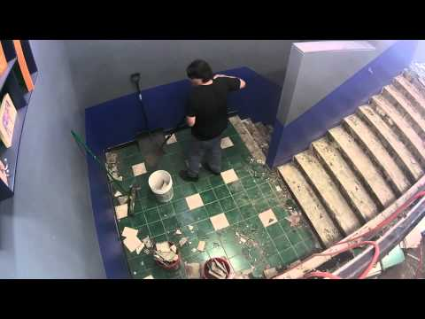 Captain's Blog 10 22 2014 Ed and Jeri Main Stairs Tile Removal