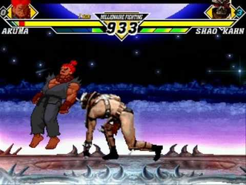 Mortal Kombat vs. Street Fighter - Akuma vs Shao Kahn