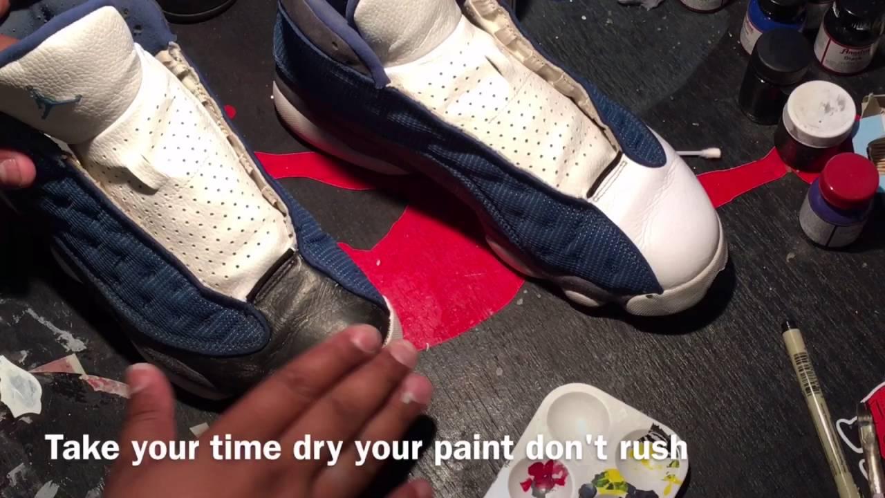 d1f8d0c5e76d Custom Air Jordan 13 s Flints - YouTube