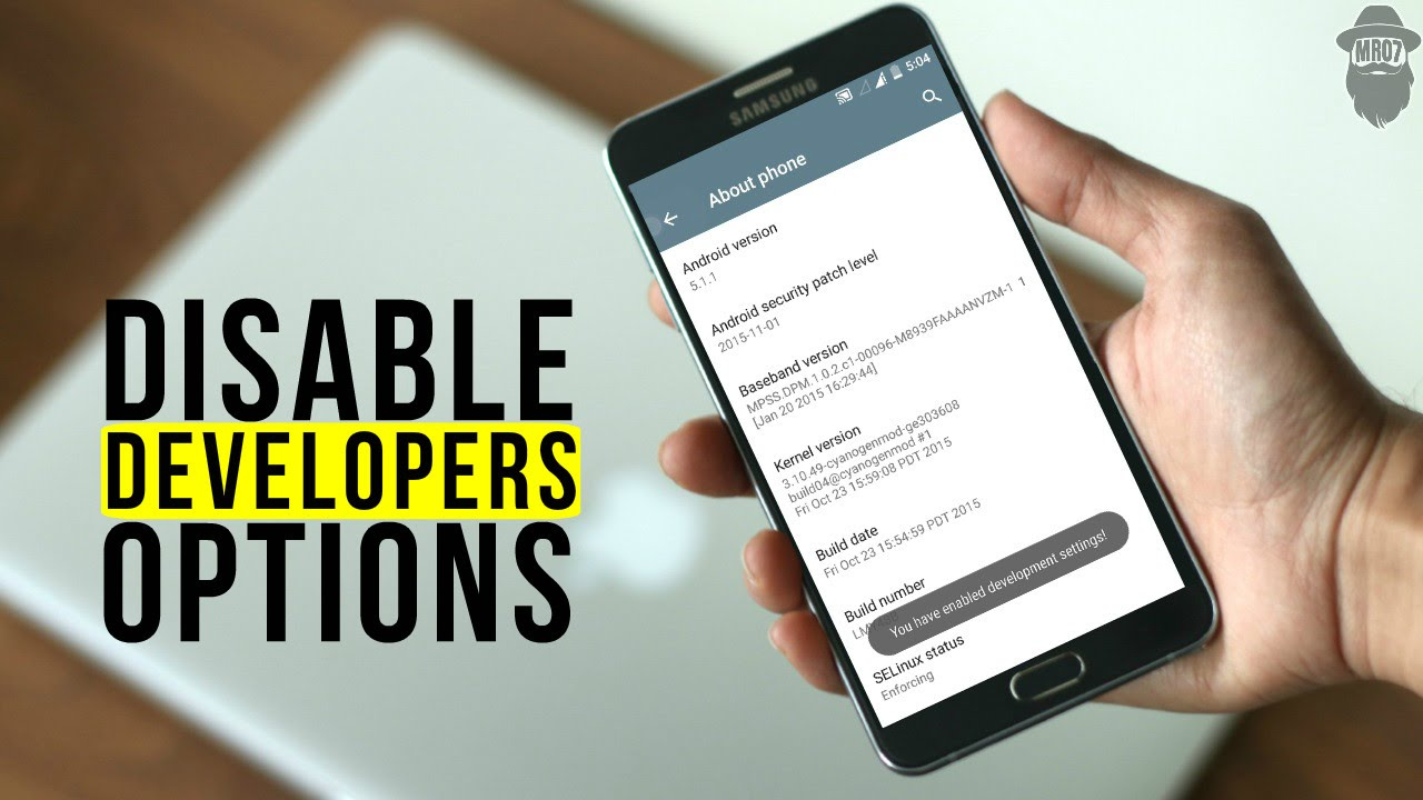 How to remove Developer Options? - YouTube