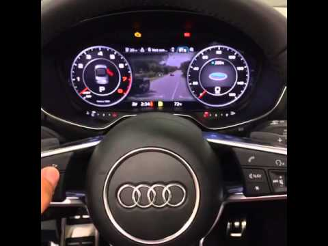 2016 audi TT virtual cockpit with google earth and weather ...