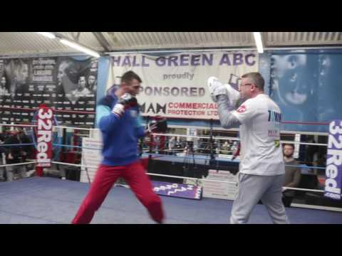 TOMMY LANGFORD OPEN WORKOUT FOOTAGE W/ TRAINER TOM CHANEY @ HALL GREEN ABC