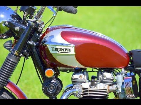 Triumph Bonneville T120r 1970 New Painting Youtube