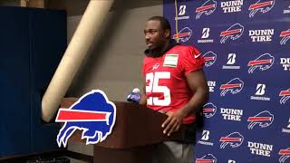 Buffalo Bills' LeSean McCoy reacts to child abuse allegations.