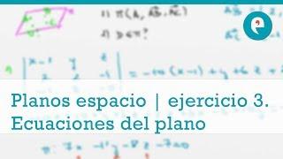 Planos en el espacio | ejercicio 3. Puntos coplanarios