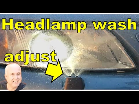 How to Adjust Saab 9-3 Headlight Washer Nozzle | Easy DIY