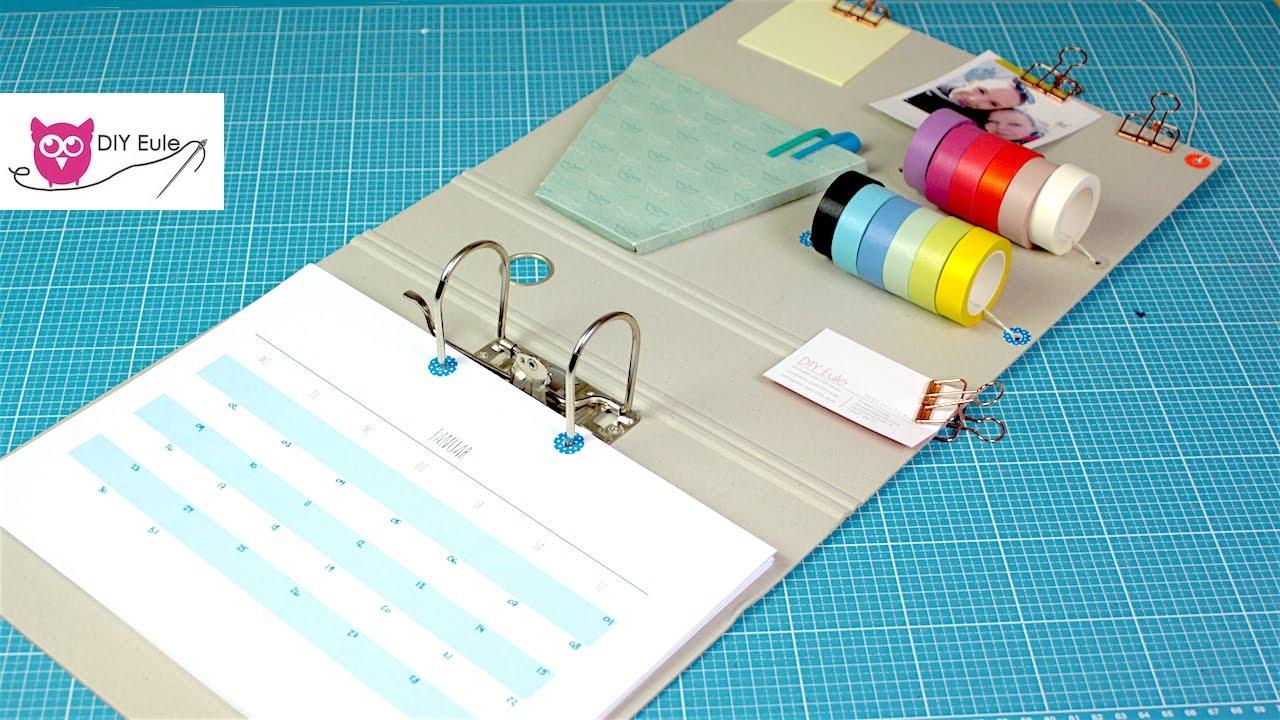 kalender aus ordner selber basteln mit kostenloser druckvorlage youtube. Black Bedroom Furniture Sets. Home Design Ideas