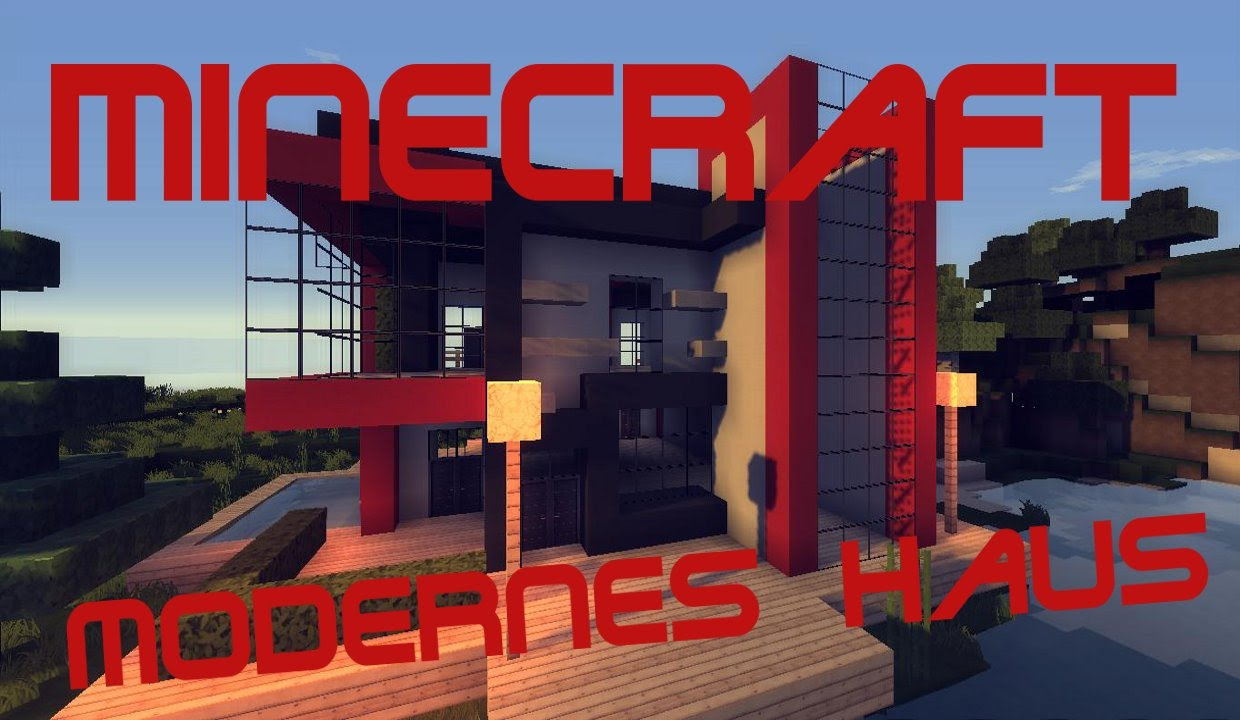 Minecraft modernes haus am see download youtube for Modernes haus download