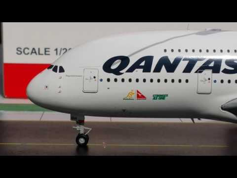 JC Wings 200 Qantas Airbus A380-800(Go Wallabies Livery)Review