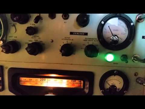 PYE Marine MF/LF Reciever. Part of the Admiralty Type 619 Transmitter Reciever