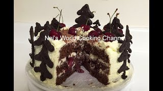 Black Forest Cake Recipe Demonstration - SIMPLE EASY BLACK FOREST CAKE || HOMEMADE!!