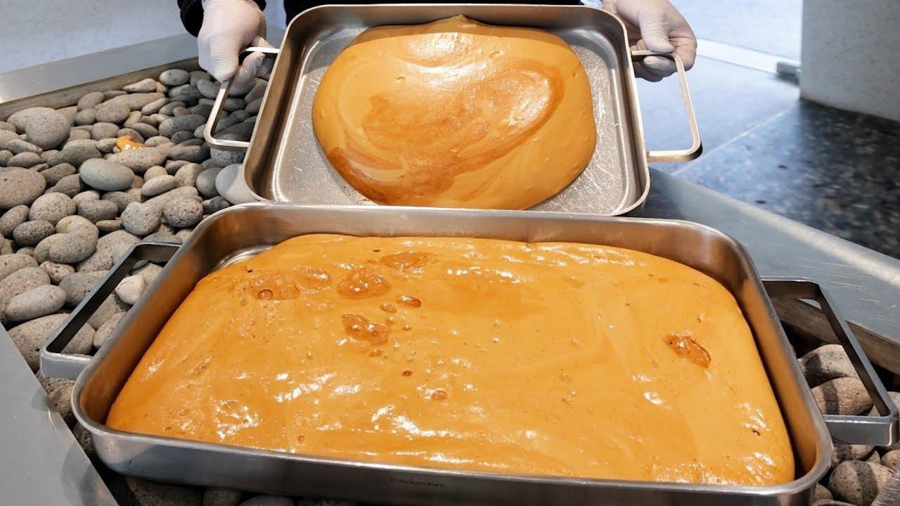 초대형 달고나 만들기 한강뷰 달고나 카페 차, 달고나 스콘, 달고나 라떼 /Giant Dalgona Cafe - Dalgona Honeycomb Candy Latte & Scone
