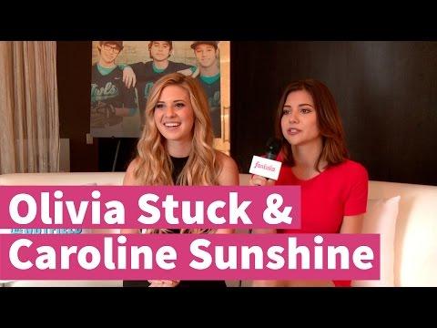 Olivia Stuck & Caroline Sunshine love working on films and tv s!