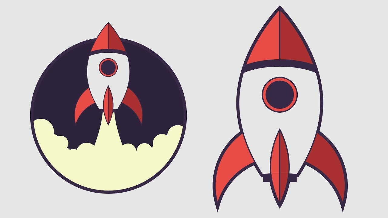 How To Draw A Rocket Spaceship In Adobe Illustrator