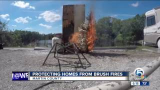Protecting homes from brush fires