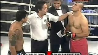 """Siyar """"the great"""" Bahadurzada vs Carlos """"indio"""" 2nd Shooto world title defense"""