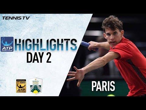 Tuesday Highlights: Thiem, Mahut, & Lopez Advance In Paris 2017
