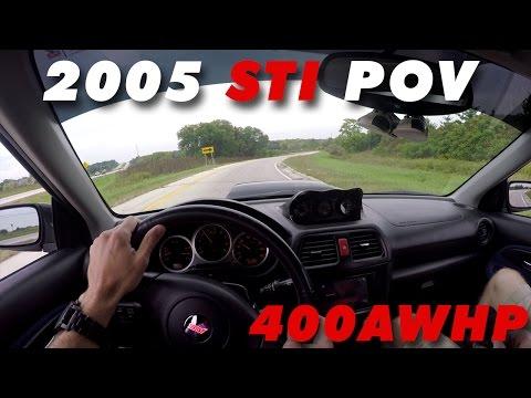 400hp Blobeye STI POV Intense Accelerations