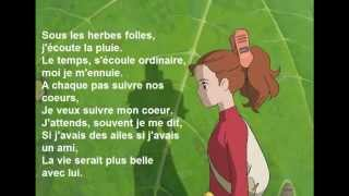 Repeat youtube video Arrietty'song en français