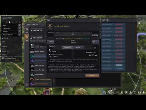 Black Desert Online - Using the new Central Market to sell