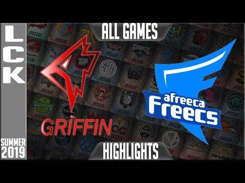 GRF vs AF Highlights ALL GAMES | LCK Summer 2019 Week 5 Day 5 | Griffin vs Afreeca Freecs