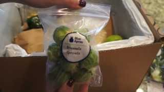 Unboxing our first Blue Apron