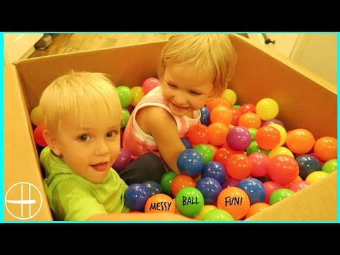 400 BALL PIT balls all over the house! fun MESSY MONDAYS 6 family life w 7 kids hopes vlogs