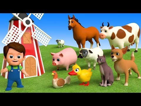 Learn Farm Animals Names & Sounds