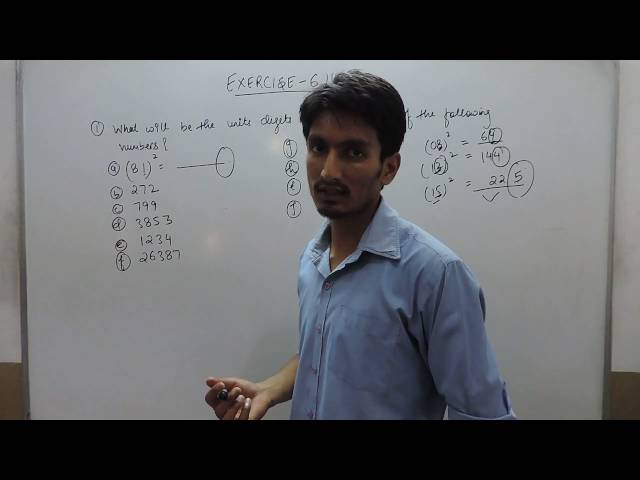 Chapter 6 Square and square Roots class 8 maths - Ex 6.1 Q 1 class 8 mathematics ncert solutions