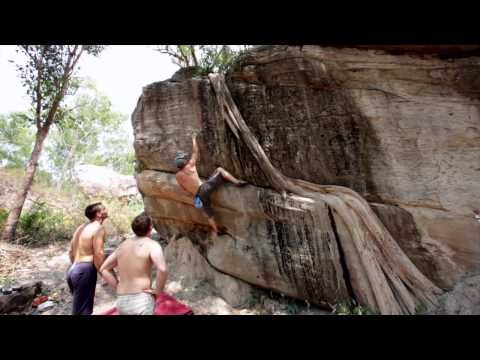 Gavriel Jecan Falling On Root Bear Route V3+