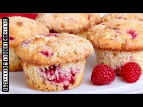 Raspberry Yogurt Muffins | Raspberry Muffins Recipe