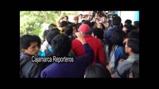 Enfrentamiento entre estudiantes de la facultad de Educación de la Universidad Nacional de Cajamarca