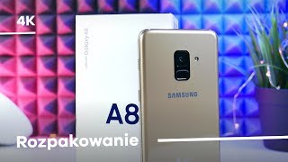 Samsung Galaxy A8 (2018) Rozpakowanie Unboxing [4K]