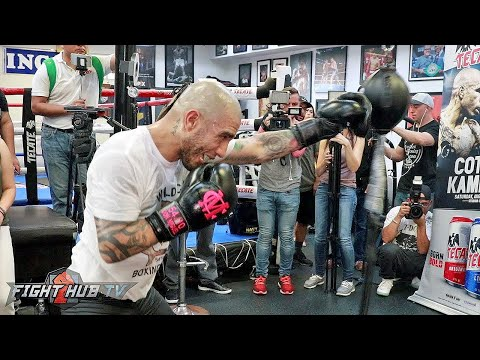 FULL & UNEDITED - MIGUEL COTTO'S MEDIA WORKOUT FOR YOSHIHIRO KAMEGAI
