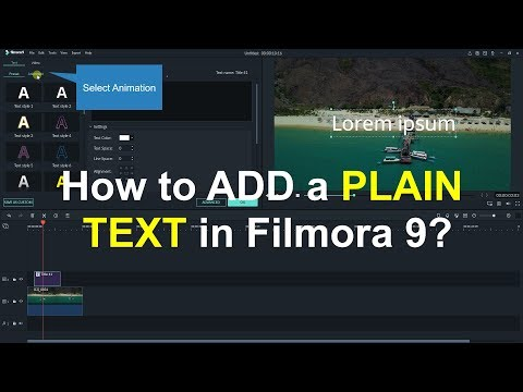How to Add a PLAIN TEXT Title In Filmora 9
