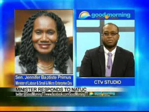 Sen  the Hon  Baptiste Primus CTV Interview Re: Appointment of trade union representatives on CCLCS