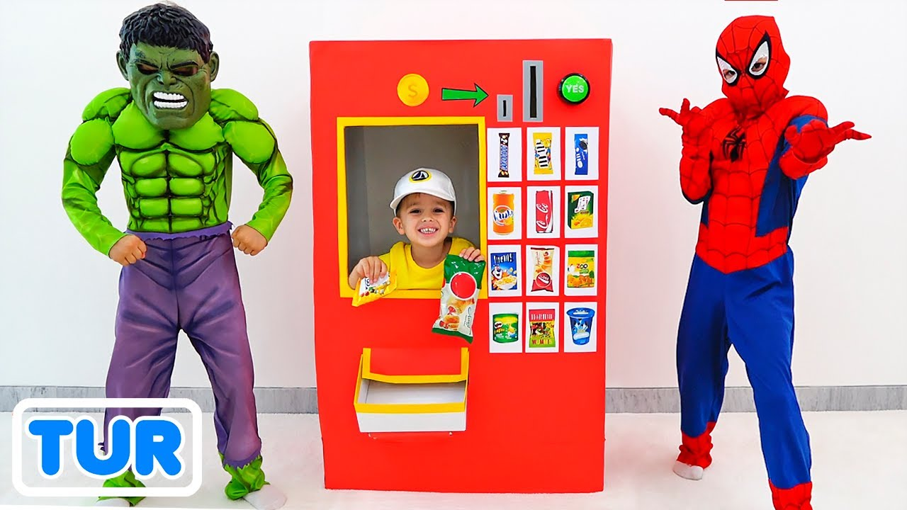 Vlad ve Nikita süper kahramanlar otomat çocuklar oyuncak hikayesi