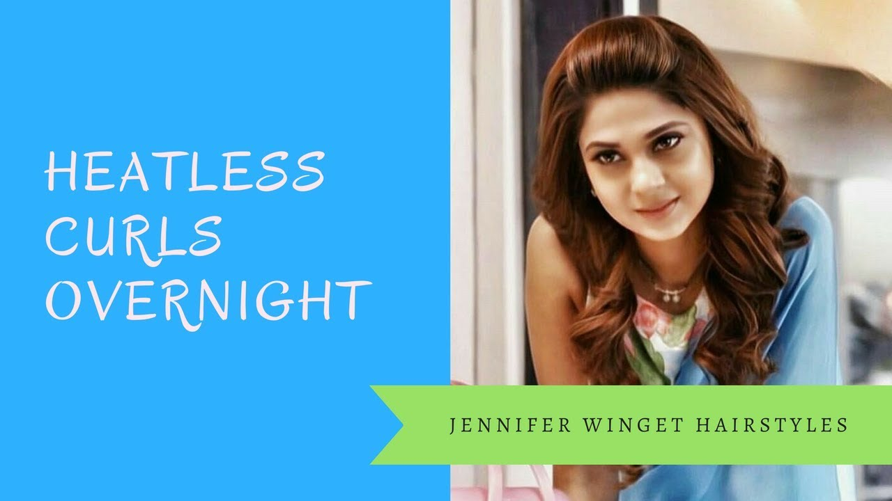 Jennifer Winget Hairstyle In Beyhadh Heatless Curls Overnight Front Puff Hairstyle For Curly Hair