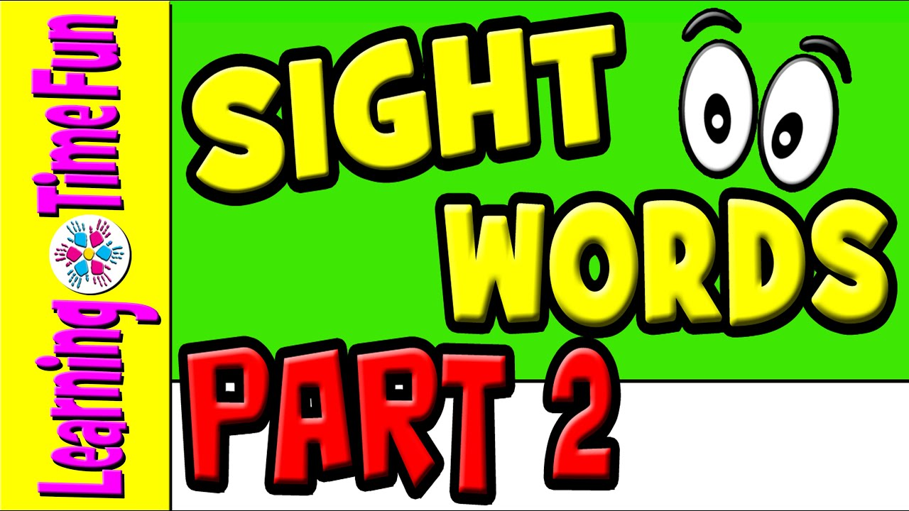 Sight Words for Kids | Learn Sight Words | Children Learning ...