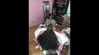 Low Brazilian Curly Ponytail How to Tutorial