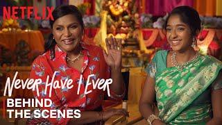 Never Have I Ever | Mindy Kaling & Maitreyi Ramakrishnan Celebrate Ganesh Puja Episode