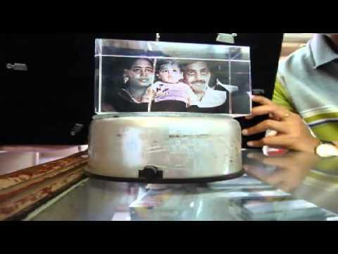 3D crystal portrait @ Needs, Chennai