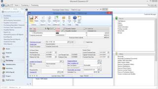 MS Dynamics GP Purchase Order Processing