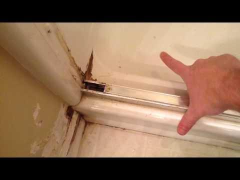 Re-sealing A Glass Shower Door On A 4 Piece Shower
