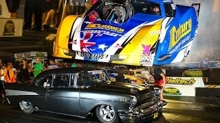 jeff lutz 57 chev vs ben bray corvette lights out grudge racing 2016